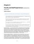 Faculty and Staff Experiences (Kathleen Henderson, Versalle Washington, Kenya Crosson)