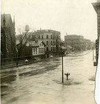 Flood waters on Ludlow Street