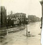 Flood waters on Ludlow Street