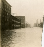 Flood waters on East Third Street