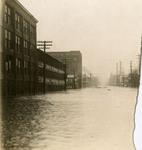 Flood waters on East Third Street