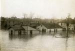 Flood waters in residential area of Dayton