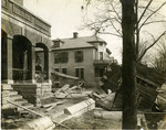 Flood debris on Monument Avenue