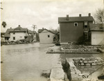 Flood damage in a Dayton neighborhood