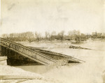 Railroad bridge destroyed by flood