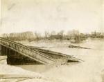 Railroad bridge destroyed by flood