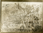 Map of Dayton showing flood and evacuation areas