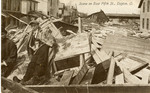 Flood wreckage on East Fifth Street