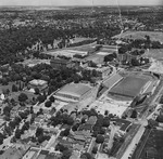 Aerial view of campus, 1950