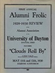First annual alumni frolic and 1929-1930 review of the Alumni Association of the University of Dayton