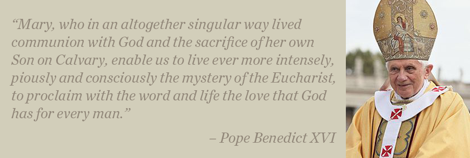 Marian Thoughts of Pope Benedict XVI
