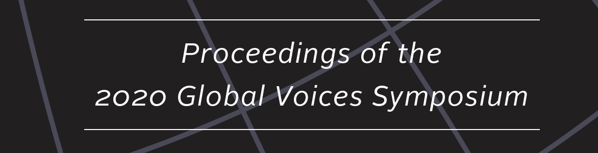 Proceedings: 2020 Global Voices on the University of Dayton Campus