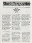 The Black Perspective November-December 1990 by University of Dayton. Black Action Through Unity