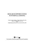 Research Opportunities in Internal Auditing