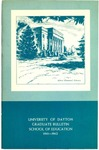1961-1962 School of Education Graduate Bulletin