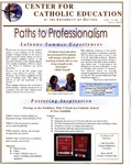 Center for Catholic Education Newsletter, Fall 2003 by University of Dayton