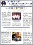 Center for Catholic Education Newsletter, Spring 2003