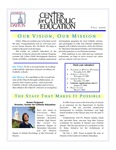 Center for Catholic Education Newsletter, Fall 2007