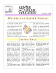 Center for Catholic Education Newsletter, Spring 2008