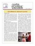 Center for Catholic Education Newsletter, Fall 2009 by University of Dayton