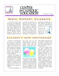 Center for Catholic Education Newsletter, Spring 2009