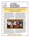 Center for Catholic Education Newsletter, Fall 2010