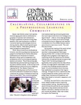 Center for Catholic Education Newsletter, Spring 2010