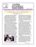 Center for Catholic Education Newsletter, Spring 2010 by University of Dayton