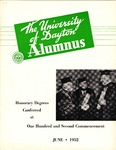 The University of Dayton Alumnus, June 1952 by University of Dayton Magazine