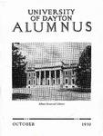 The University of Dayton Alumnus, October 1930 by University of Dayton Magazine