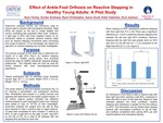 Effect of Ankle-Foot Orthosis on Reactive Stepping in Healthy Young Adults: A Pilot Study