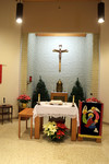 Altar, Pelletier Hall Chapel, View from Center Aisle by Glenn Plungis