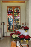 Stained Glass Window: Mary, the Shepherdess for Christ by Glenn Plungis