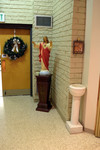Statue of Jesus on Pedestal, Pelletier Hall by Glenn Plungis