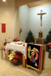 Altar, Pelletier Hall Chapel, View from Right Side of Congregation by Glenn Plungis