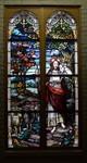 Good Shepherd Window: Full View in Dark Chapel by Glenn Plungis