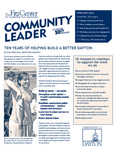 Community Leader, Vol. 10, No. 02 by University of Dayton. Fitz Center for Leadership in Community