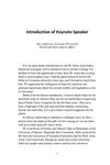 Introduction of Keynote Speaker