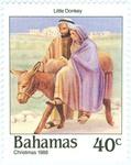 Mary and Joseph travelling to Bethlehem