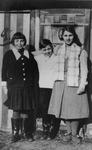 Three Voisin children, Fernande, Gilberte, and Albert, 1933