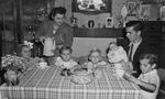 Fernande Voisin with husband, Albert Despas, and their five children in 1952