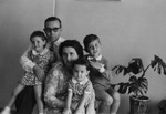 Albert Voisin and his family in the Belgian Congo, 1958