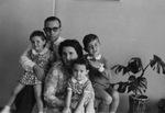 Albert Voisin and his family in the Belgian Congo, 1958