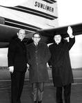 Albert Voisin in Boston with Fr. Fillion and Fr. Debergh, 1964