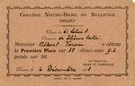 Albert Voisin's report card, 1935