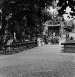 Pilgrims in the Sisters' Garden, circa 1960