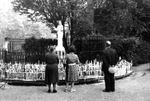 Pilgrims Praying at the Beauraing Shrine, circa 1960