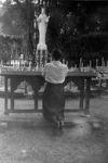 Marie Debergh Praying in Beauraing, 1958