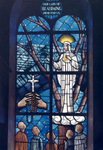 Stained Glass Window in the St. Joseph Shrine, 1964 by Richard Belley