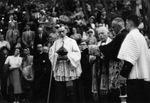 """Benediction of the Statue """"St. Louis-Marie Gringnon de Montfort"""", 1949"""